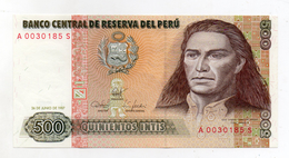 Perù - 1987 - Banconota Da 500 INTIS - Nuova -  (FDC1736) - Peru