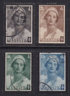 BELGIUM, 1935, Used Stamp(s), TBC,  MI 408=414,  #10312, 4 Values Only - 1934-1935 Leopold III