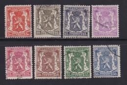 BELGIUM, 1936, Used Stamp(s), Definitives,  MI 415-422,  #10313, Complete - 1936-1951 Poortman