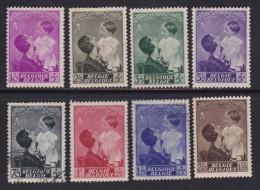 BELGIUM, 1937, Used Stamp(s), Astrid Fund,  MI 443-450,  #10316, Complete - 1936-1951 Poortman