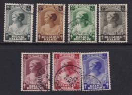 BELGIUM, 1937, Used Stamp(s), TBC,  MI 457=464,  #10317,  7 Values Only - 1936-1951 Poortman