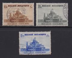 BELGIUM, 1938, Used Stamp(s), Koekelberg Basilica,  MI 471=477,  #10319,  3 Values Only - 1936-1951 Poortman