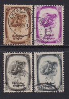BELGIUM, 1938, Used Stamp(s), TBC,  MI 489=496,  #10321,  4 Values Only - 1936-1951 Poortman