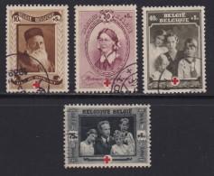 BELGIUM, 1939, Used Stamp(s), Red Cross,  MI 497=504,  #10322,  4 Values Only - 1936-1951 Poortman