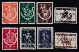 BELGIUM, 1942, Used Stamp(s),  Winter Support,  MI 614=623,  #10328, 8 Values Only - 1936-1951 Poortman