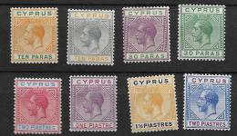 1921 MH Cyprus Wmk Script CA  Set To 2p - Cyprus (...-1960)