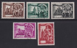 BELGIUM, 1943, Used Stamp(s),  Winter Support,  MI 648=655,  #10332, 5 Values Only - 1936-1951 Poortman