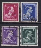 BELGIUM, 1944, Used Stamp(s),  Leopold III Freedom,  MI 685=691,  #10335, 4 Values Only - 1936-1951 Poortman