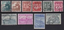 BELGIUM, 1948, Used Stamp(s), Export,   MI 804=815,  #10346, 10 Values Only - 1936-1951 Poortman