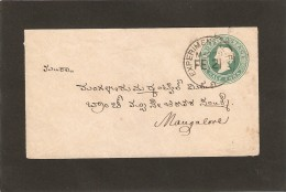 1894 Mangalore  EXPERIMENTAL  Sur Entier Postal. RARE - Ohne Zuordnung