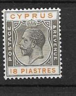 1924 MH Cyprus Wmk Script CA - Cyprus (...-1960)