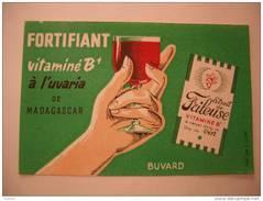 Buvard  Fortifiant Vitaminé B1 à L'Uvaria De Madagascar - Extrait De Frileuse à Verser Dans 1 Litre De VIN - Buvards, Protège-cahiers Illustrés