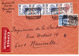 Expres FRASNES-LEZ-BAS  RECETTES 1981 Kaart 792 - Belgium