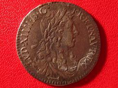 1/12 Ecu Louis XIV 1664 & Aix 3393 - 1643-1715 Louis XIV Le Grand