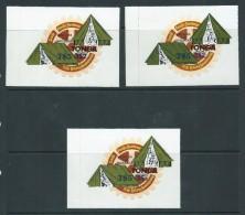 Tonga 1982 $ 5 Surcharges On Scout Self Adhesives Set 2 + Extra Printing Variety MNH - Tonga (1970-...)