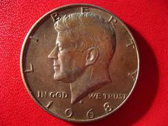 Etats-Unis - USA - Half Dollar Kennedy 1968-D 3470 - Federal Issues