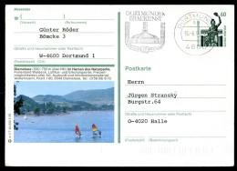 BUND P139 W1/7 Bild-Postkarte DIEMEL STAUSEE Gebraucht Dortmund 1992