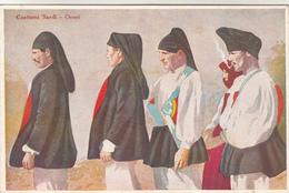 Postkaart, Folkloristische Kledij Costumi Sardi Orosei (pk31291) - Costumes