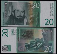 YUGOSLAVIA 20 Dinara 2000  UNC Pick 154 Replacement  Prefix ZA - Yougoslavie