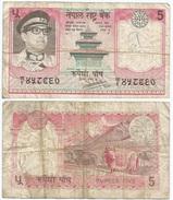 Nepal 5 Rupees 1974, Firma 11 Pick 23 Ref 1208 - Nepal