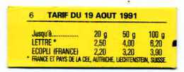 FRANCE - Carnet 2715 C5b - 1990 - NEUFS - Albertville 92 - Usage Courant