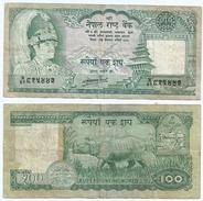 Nepal 100 Rupees 1985-90, Firma 11 Pick 34c Ref 1219 - Nepal