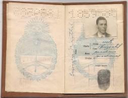 ARGENTINA - Vf 1956 PASSPORT - PASSEPORT  Multiples VISAS And REVENUE- NEDERLAND- BELGIQUE- FRANCE- SWEDEN- NORWAY-UK - - Documentos Históricos