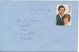 Great Britain Cover Sent To Denmark 1984 Single Franked - 1952-.... (Elizabeth II)