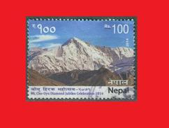 "Nepal 2014, Himalaya Mountain Montagne ""Turquoise Goddess"" Alpinism Alpinisme Fine Used - Népal"