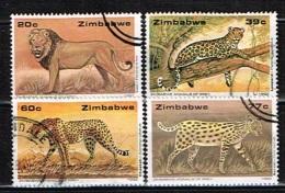 ZIMBABWE /Oblitérés/Used/1992 - Faune / Prédateurs - Zimbabwe (1980-...)
