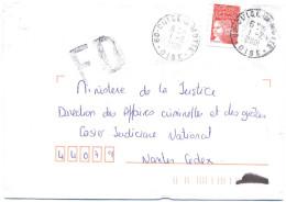 FRANCIA - France - 2001 - Marianne De Luquet Rouge + FD, Fausse Direction - Seul - Viaggiata Da Aulnay-sous-Bois Per ... - Francia