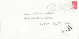 FRANCIA - France - 2000 - Marianne De Luquet Rouge + FD, Fausse Direction - Seul - Viaggiata Da Auby Per Nantes, France - Francia