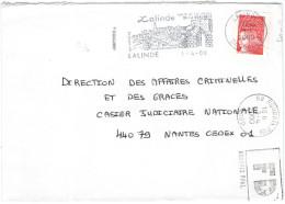 FRANCIA - France - 2000 - Marianne De Luquet Rouge + Flamme + FD, Fausse Direction Roubaix - Seul - Viaggiata Da Lali... - Francia
