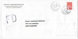 FRANCIA - France - 2000 - Marianne De Luquet Rouge + FD, Fausse Direction - Seul - Institut Catholique De Lille - Via... - Francia