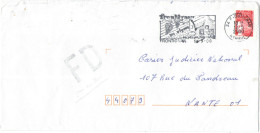 FRANCIA - France - 2000 - Marianne De Luquet Rouge + Flamme + FD, Fausse Direction - Seul - Viaggiata Da Frontignan P... - Francia