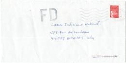 FRANCIA - France - 2001 - Marianne De Luquet Rouge + FD, Fausse Direction - Seul - Viaggiata Da Le Kremlin-Bicêtre Pe... - Francia