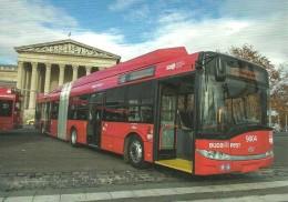 BUS AUTOBUS TROLLEY TROLLEYBUS SKODA SOLARIS TROLLINO BKV MUSEUM FINE ARTS HOSOK SQUARE BUDAPEST Reg Volt 0204 * Hungary - Bus & Autocars