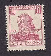 Wurttemberg, Scott #O143, Mint Hinged, King Wilhelm I, Issued 1916 - Wurttemberg