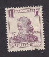 Wurttemberg, Scott #O145, Mint Hinged, King Wilhelm I, Issued 1916 - Wurttemberg