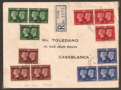 Maroc - Morocco - 1940 - Bureaux Anglais - Lettre De Tanger à Casablanca - TB - Bureaux Au Maroc / Tanger (...-1958)
