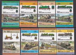 Grenadines Of St.Vincent Bequia 1985 Locomotives MNH - Trains