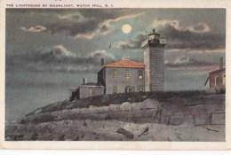 Etats Unis - Rhode Island  -  Watch Hill - The Lingthouse By Moonlight  -  Achat Immédiat - Etats-Unis