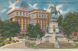 Etats Unis -  Virginia - Richmond - Washington Monument And Hotel Richmond : Achat Immédiat - Richmond