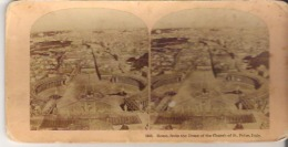 1469. Rome, From The Dome Of The Church Of St. Peter, Italy - Stereoscope Cards