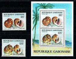 1987  Coquillages   Timbres Et Bloc-feuillet ** - Gabon (1960-...)