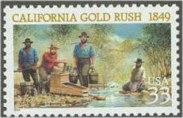 1999 USA California Gold Rush 150th Anni Stamp Sc#3316 Mineral History - Stati Uniti