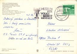 L1415 - DDR (1984) 8024 Dresden: Museum Of Folk Art (postcard: Dresden) Tariff: 10 Pf (stamp: Berlin, Republik Palace)