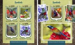 SIERRA LEONE 2016 ** Sunbirds Nektarvögel M/S+S/S - OFFICIAL ISSUE - A1646 - Sperlingsvögel & Singvögel