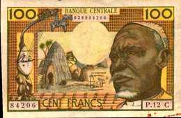 Banque Centrale Etats Afrique Equatoriale C=CONGO. Pick 3 100 Fr 1963 Nd - États D'Afrique Centrale