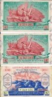 BILLET De LOTERIE - Gueules Cassées - 3 Unités - - 1914-18